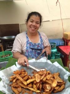 Fried Bananas on the streets of BangkokCopyright 2012 Mike Flinchum