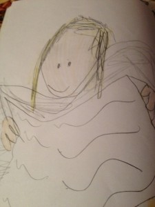 First drawing inside picture book dummy, age 5