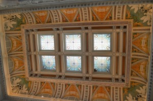 The ceiling of the Library of Congress