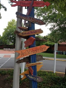 Children's Literature Destinations Sign at Hollins