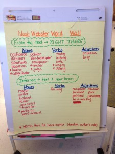 Word Choice Chart from NOAH WEBSTER & HIS WORDS