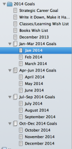 I even have a Scrivener Project for my Writing Goals