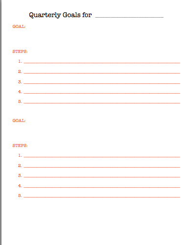 Quarterly Goals 2 Screenshot
