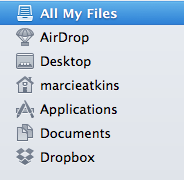 dropbox in finder