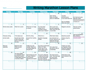 screenshot of lesson plans
