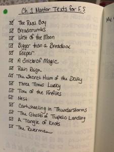 MG Book list