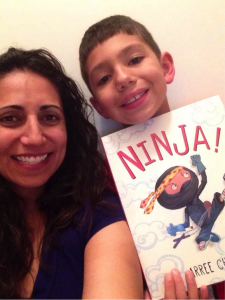 jen pic with ninja book